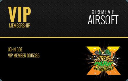 Xtreme Airsoft VIP Membership Card