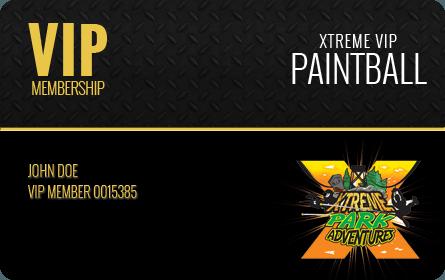 Xtreme Paintball VIP Membership Card